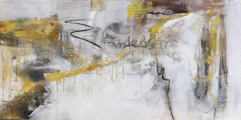 """""""Alles im Fluss"""" 140x70 cm, Pigment und Sand auf Leinwand"""