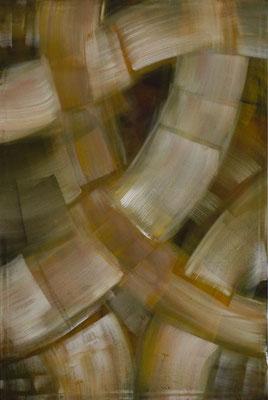 """""""Aufeinander gelegt"""", 120x80 cm, Pigment auf Leinwand"""