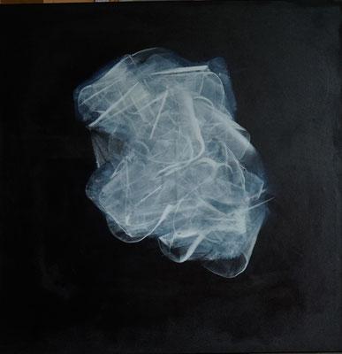 """""""Kristallin"""", 100 cm x 100 cm, Pigment auf Baumwolle"""