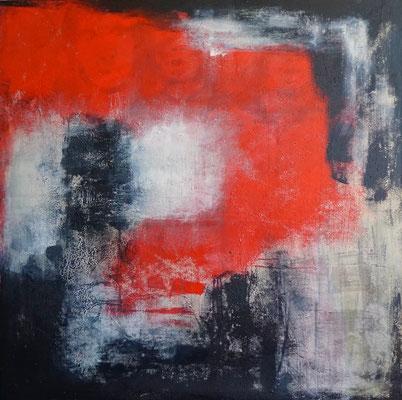 """""""Im Hintergrund"""", 140x140, Acryl und Sand auf Leinwand"""