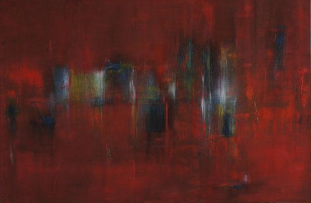 """Reflexion"" 150 cm x 100 cm, Acryl und Öl auf Leinwand"