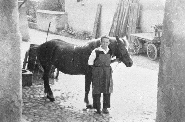 Francesco Bassetti con cavallo