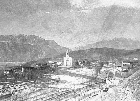 46. Veduta di Vigo Meano, primi anni del '900. Da Gruppo fotoamatori di Meano.