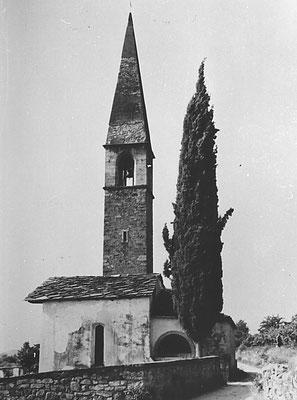 Cartolina - chiesa di San Pietro e Paolo - metri 550 sul livello del mare