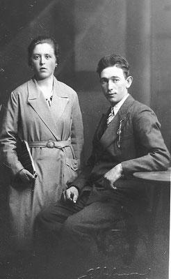 Clementina Sontacchi e Luigi Chiogna, 1935. Da Remo Moresco.