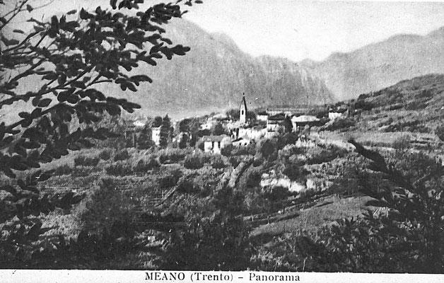 4. Cartolina panorama di Meano, anni '50.  Da Mirko Saltori da Ines Saltori