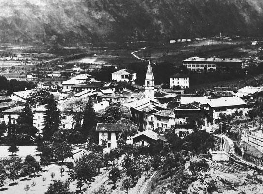 5. Vista di Meano dall'attuale via Palustei, primi anni '50.  Da Gruppo Fotoamatori Meano