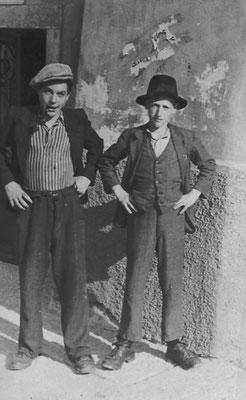 Gino Vitti (detto Mozzo) con il cugino Luigi Vitti di Lavis, 1943. Da Gino Vitti