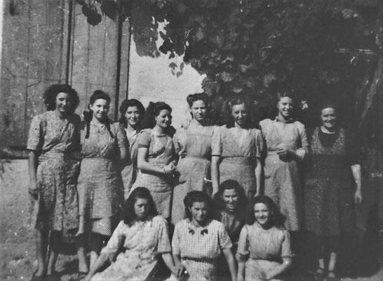 Da sinistra in alto: Rina Dallabona,Eleonora Revolti, Rosetta Bortolotti, Fabiola Clementi, Maria Stenico, Bianca Margoni,