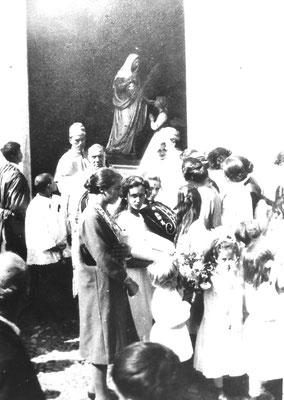 Evento sacro a Gazzadina, con la Madonna di Caravaggio.