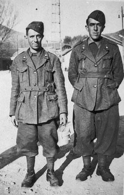 Da sinistra: Emilio Pilati e Ottorino Moresco, 1940. Da Remo Moresco.