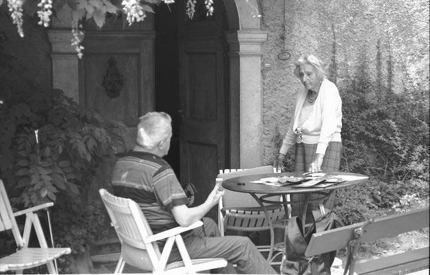 La contessa Eleonora Salvadori Zanatta a villa Salvadori Zanatta