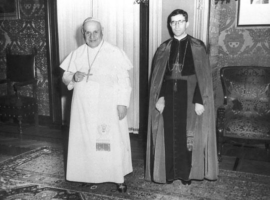 Giuseppe Dalvit (nipote di Giovanna Dalvit) nominato vescovo, 1959.