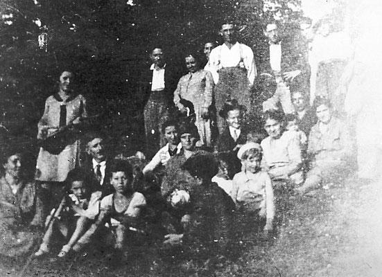 Coro di Gazzadina alle Gorghe, 1928.