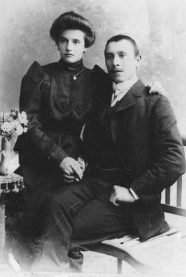 Fortunata (Betta) e Fortunato Stenech (Stenico), 1909.