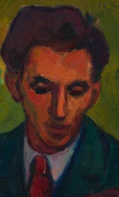 Wilfried Kirschl, Portrait Othmar Costa, Öl auf Leinwand/Holz, 1952. (Foto: Johannes Plattner)