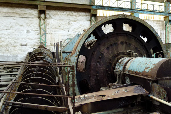 Ball mill and spiral classifier