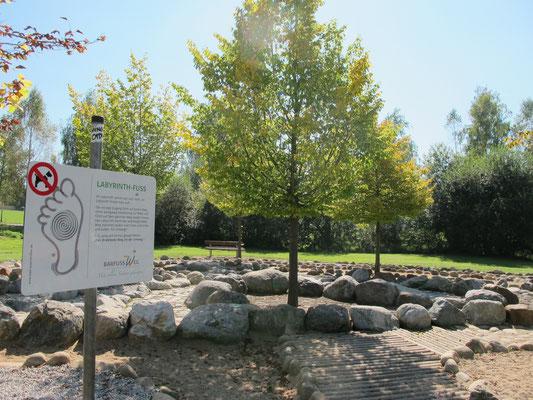 Bad Wörishofen (Kurpark mit Barfußweg - Labyrinth)