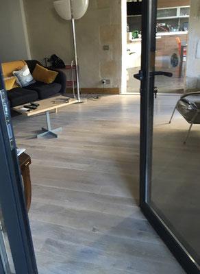Plancher chêne  finition blanchi