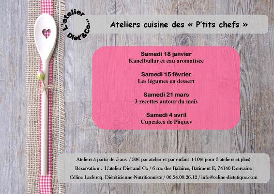 Atelier cuisine enfant Douvaine diététicienne nutritionniste 2020