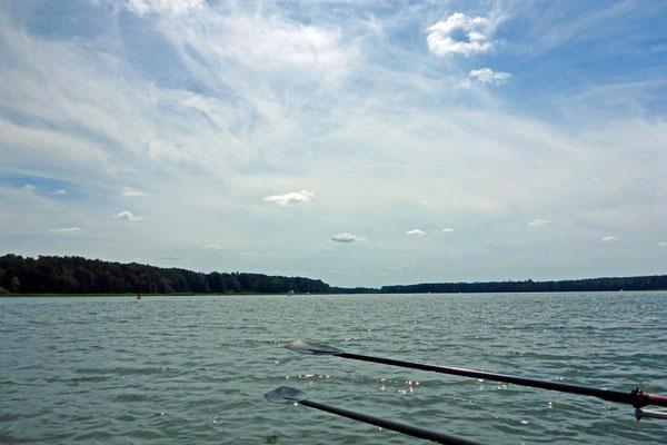 Es ist ganz schön heiß auf dem Rheinsberger See!