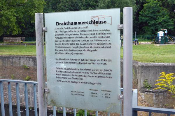 10:39 Uhr: Schleuse Drahthammer ist die nächste.