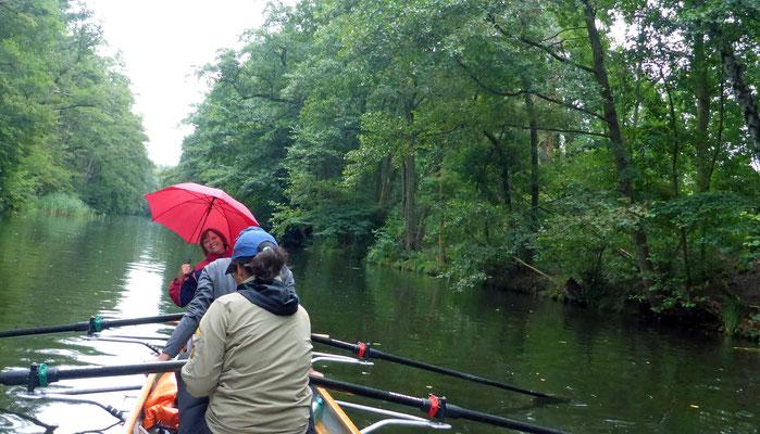 Die einzigen wenigen Regentropfen der Reise.