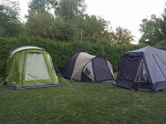 Unsere Zelte sind aufgebaut.