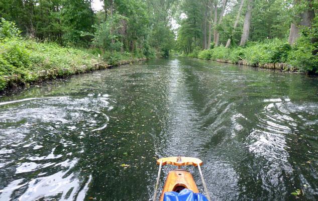 Der Galluner Kanal ist schmal und