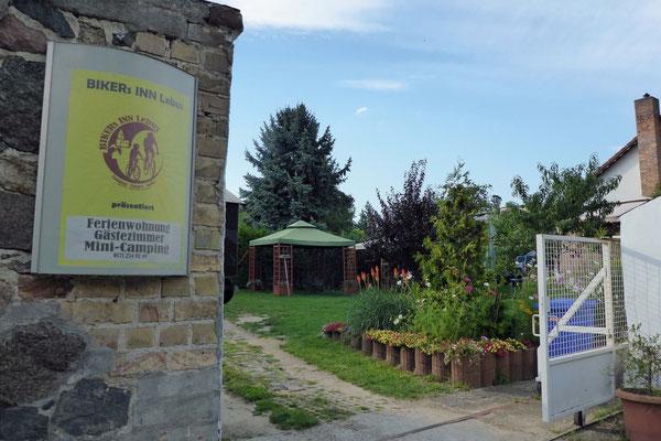 Unsere Unterkunft in Lebus.