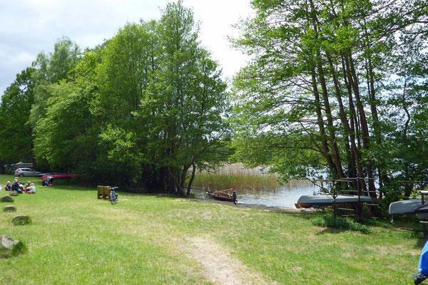 Auf dem Campingplatz am Rätzsee ...