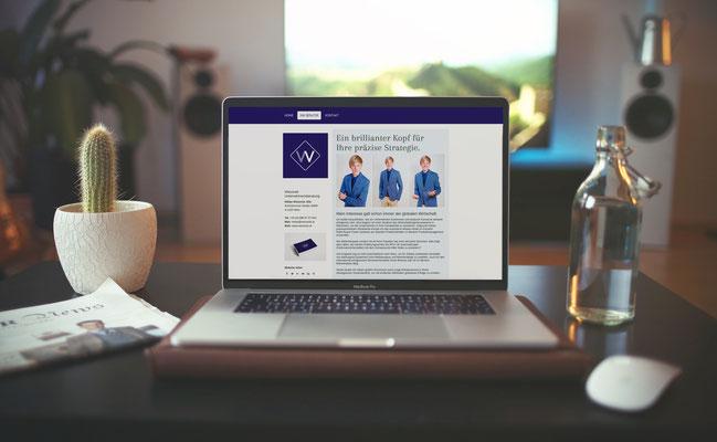 Website Wiezorek Unternehmensberatung von Kath Visual