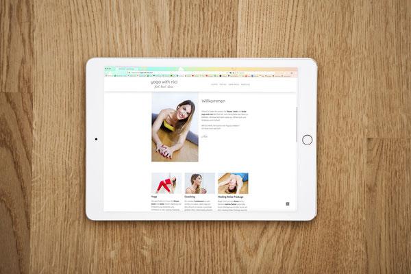 Website yoga with nici von Kath Visual