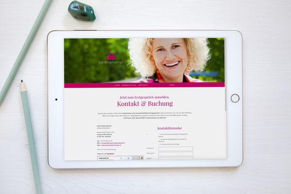 Website Ingrid Bogensperger von Kath Visual