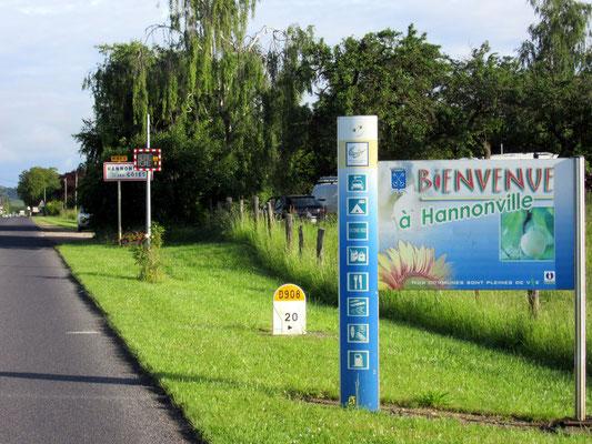 Entrée du village d'Hannonville-sous-les-Côtes