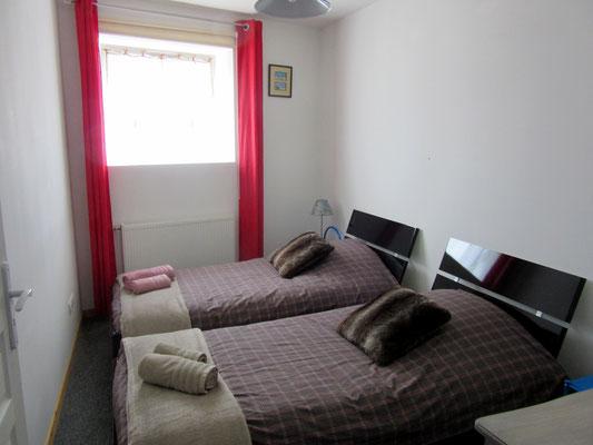 Chambre lits jumeaux - Gîte Hannonville-sous-les-Côtes
