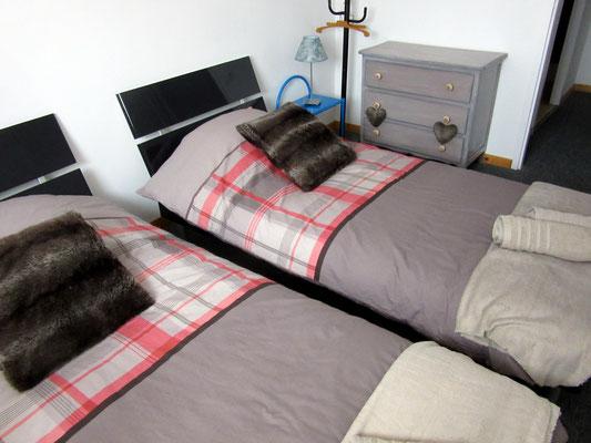 Location de vacances près de Verdun - Chambre avec lits jumeaux