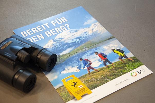 BFU – Kreation Mailing mit der jeweils aktuellen Kampagne, 1 mal pro Jahr