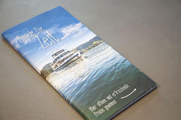 Zugersee Schifffahrt – Umschlagsgestaltung für das Jahresprogramm