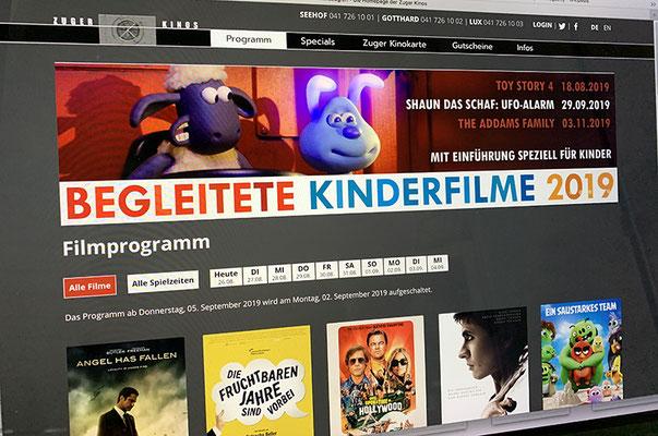 Kino Zug  – Redesign Webseite
