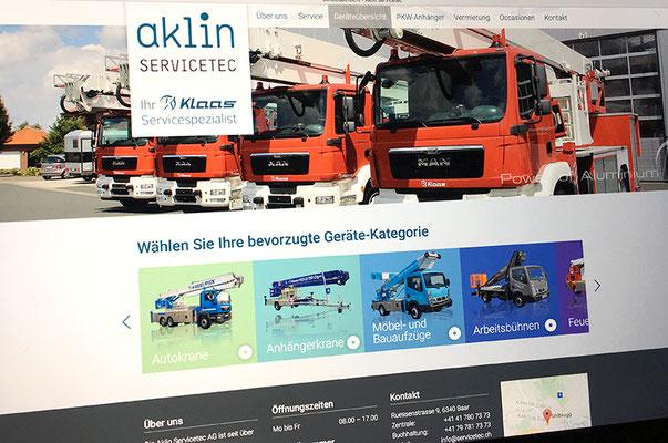 Aklin Servicetec – Redesign Visual Identity inkl. Broschüren und Webseite