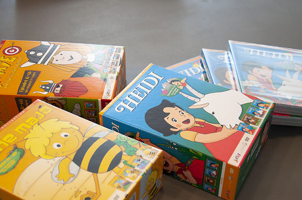 Plazavista Entertainment AG – Illustration und Kreation der DVD-Boxen von «Heidi», «Wicki» und «Biene Maja»