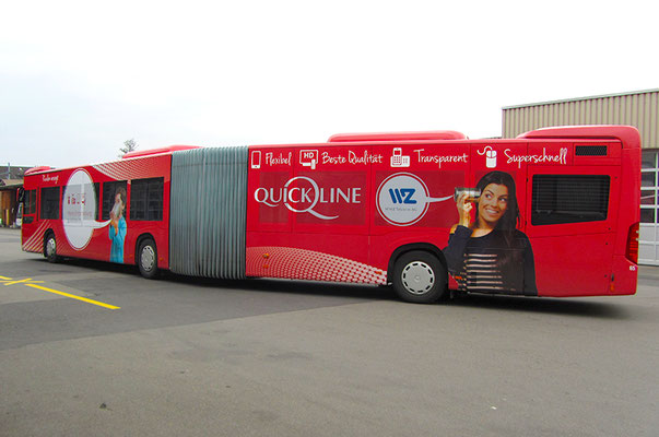 Quickline/WWZ – Design des Quickline/WWZ-Bus
