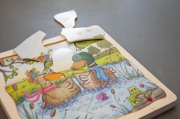 Vogelwarte Sempach – Illustration eines Kinderpuzzles