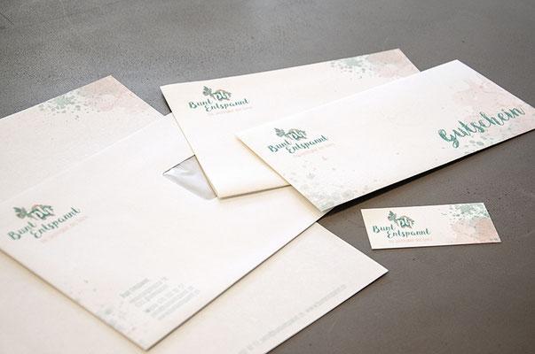 Bunt Entspannt – Visual Identity inkl. Naming, Logo, Briefschaften und Webseite