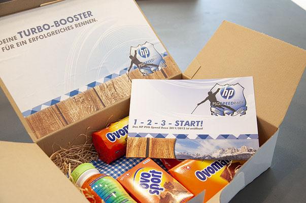HP Schweiz – Goodie-Bag für das HP PSC Speed Race