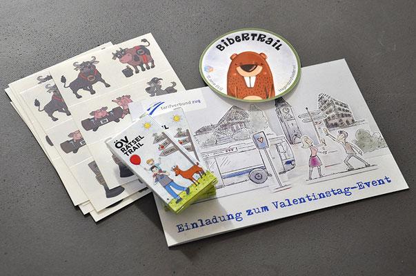 Diverse Illustrationen als Verkaufsunterstützungen