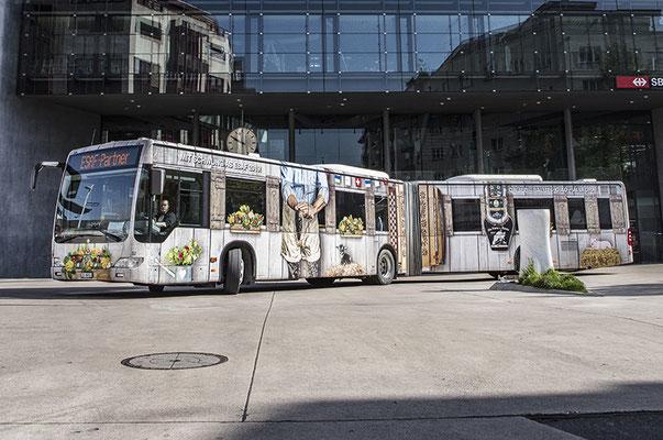 Zugerland Verkehrbetriebe (ZVB) – Kreation des offiziellen ESAF-Bus der ZVB