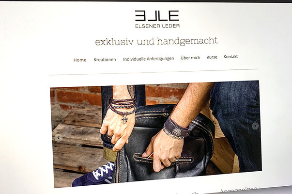 Elsener Leder – Redesign Webseite