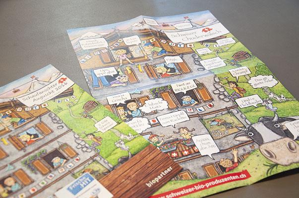 Biopartner – Illustration von Magazinbeilagen und Postern